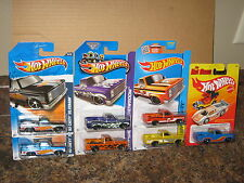 Hot Wheels Lot of 7 '83 Chevy Silverado Variation Hot Ones Flames Exclusive 1983