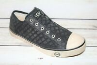UGG Brand Women's Black Leather Sneakers Flats Size 9 LIKE NEW