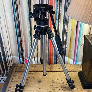 BOGEN MANFROTTO PRO 3411 TRIPOD 3130 FLUID HEAD Gently Used ~ Exc Working Order
