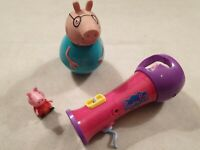 Peppa Pig Bundle Daddy Pig Weeble Wobble Peppa Pig Microphone Peppa Pig Figure