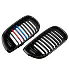 Front Gloss Black M-color Kidney Grille Grill For BMW E46 4D 3 Series 2002-2005