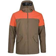Dakine DENISON Mens Snowboard Ski Jacket Lightweight Primaloft Orange Brown MED