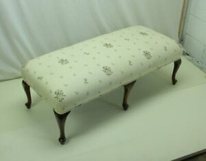 Lovely Queen Anne Style Window Bench With New Upholstery
