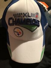 Official Locker Room Hat Pittsburgh Steelers Super Bowl XLIII Champions NFL 1d5c3f2de