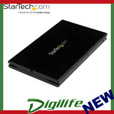 "StarTech USB 3.1 10Gbps 2.5"" SATA SSD/HDD Enclosure with Integrated USB-C Cable"