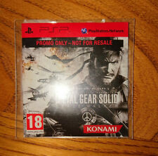 Metal Gear Solid Peace Walker PSP Promotional Disc RARE