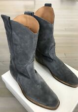 1,000$ Maison Margiela Gray Suede Western Boots size US 9, EU 42 Made in Italy