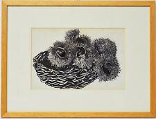 Zeichnung Nini Consolaro Stillleben Kastanien 1969 Sammlung Karl Schott 42x32 cm