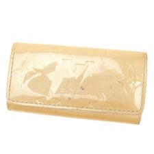Louis Vuitton Key holder Key case Vernis Beige Woman Authentic Used T860