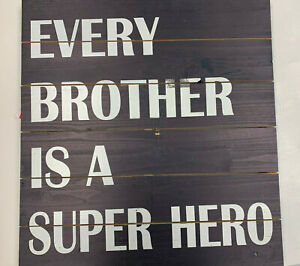 Pottery Barn Kids Every Brother is a Super Hero Wooden Wall Hanging **Mark**