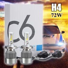 2X 72W H4 COB LED Car Headlight Kit Conversion Bulb Lamp Hi/Low Beam White 6000K