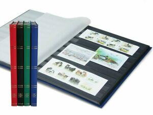 Lighthouse / Leuchtturm Stockbook - assorted colors - Size A4 - 32 black pages.