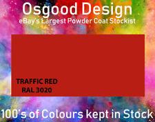 Traffic Red RAL 3020 FINE TEXTURE STIPPLE 1kg Powder Coat Refurbish Alloy Wheel