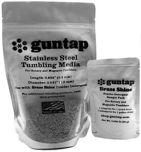 """2 Pounds Stainless Steel Tumbling Media Pins 2lb .047"""" x .255"""" Made in USA"""