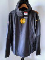 NWT $100 Nike NFL Pittsburgh Steelers mens Windbreaker JACKET LARGE AO3967 010