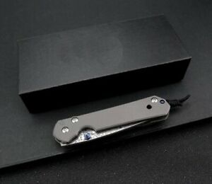 Custom damascus knife model Sebenza 21 with VG10 core