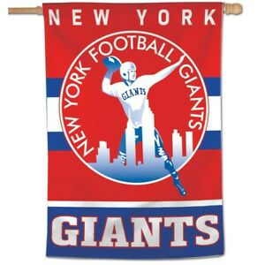"NEW YORK GIANTS CLASSIC RETRO LOGO 28""X40"" BANNER FLAG BRAND NEW WINCRAFT 👀"
