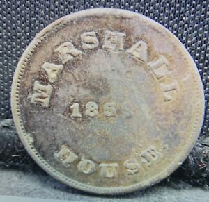 Marshall House Confederate Civil War Store Card Token!