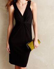NEW Bailey 44 Ellington Ponte Black Twist Sheath Dress Size Small