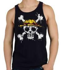 Camiseta Hombre Tirantes One Piece Mancha Pintura  sleeveless shirt man