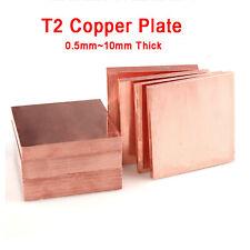 T2 Kupferblech Kupferplatte Kupferzuschnitte Flachblech 0.5/1/2/3/4/5/10mm dick