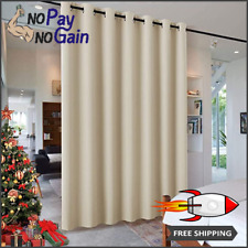 Wall Divider Polyester Curtain for Living Room with Noise Reduction and Privacy