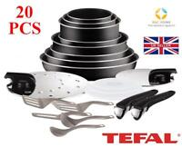 NEW TEFAL Ingenio Essential L2009702 COOKWARE SET 20 PCS LID POTS PAN KITCHEN