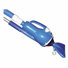 Blue 7in Handheld Pool Vacuum Cleaning Maintenance Equipment with Attachment Kit