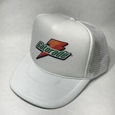 Gatorade Sports Drink Logo Trucker Hat! Vintage Snapback Cap! White