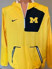 Michigan Wolverines Nike Alpha Fly Size L Large Half-Zip Pullover Jacket