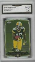 Davante Adams 2014 Topps Chrome Rookie #114 Packers GMA Graded GEM MT 10