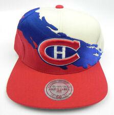 MONTREAL CANADIENS NHL MITCHELL & NESS PAINTBRUSH VTG SNAPBACK CAP HAT NEW! RARE