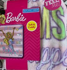 "Barbie Silky Soft Throw Blanket 40"" x 50""Making Dreams Happen"