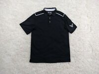 Callaway Polo Shirt Mens Large Black White Big Logo Golfer Lightweight Casual
