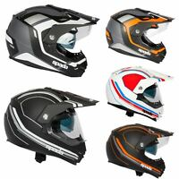 Spada Intrepid Full Face Motorcycle Off Road Adventure Style Helmet Sun Visor