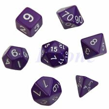 7pcs Purple Sided Die D4 D6 D8 D10 D12 D20 DUNGEONS&DRAGONS RPG Poly Dice Game