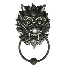 Oriental Chinese Dragon Door Knocker Statue Ball Metal Ring Tocador de Puerta