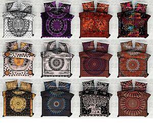En Gros Lot 5 PC Mandala Coton Reine Taille Indien Housse Couette Réversible Set