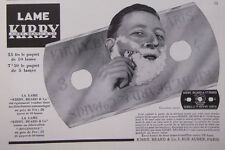 PUBLICITÉ DE PRESSE 1935 LAME DE RASOIR KIRBY BEARD - ADVERTISING