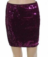 Miss Selfridge Women's Mini Skirt Magenta Pink Size 8 Sequin Embellish $58 #112