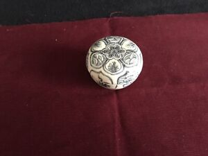 Antique Hoi An Hoard Shipwreck 15th Century Covered round Box Spice Jar 65628