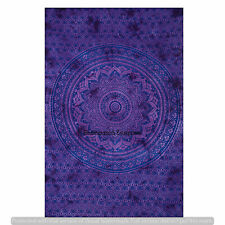 Twin Hippie Ombre Tapestry Wall Hanging Throw Indian Decor Purple Bedspread Art