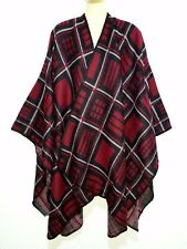 onesize Poncho Pulli Pullover Überwurf Cardigan Sweater Umhang Schal Stola Cape