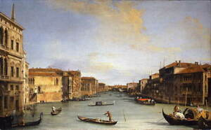 Canaletto Grand Canal Poster Reproduction Paintings Giclee Canvas Print