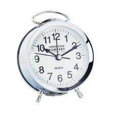 London Clock Co Classic Retro Silver Alarm