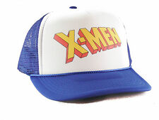 Vintage X-Men hat comics Trucker Hat mesh hat snapback hat royal blue movie hat