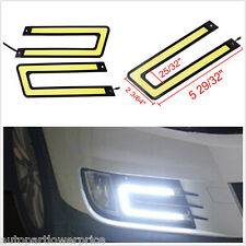U-Shape DRL COB 6000K White LED Daytime Signal Running Headlight Fog lamp 2pcs