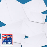 "White Greetings Card Envelopes - C7 C6 C5 DL 130mm & 155mm Square 5 x 7"""