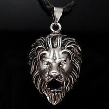 "Silver Lion King Czs Pendant with 20"" Choker Necklace Pp#224"