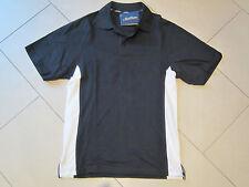 SALE: neues Polo-Shirt in schwarz mit weißen Streifen in Größe 44 von New Wave